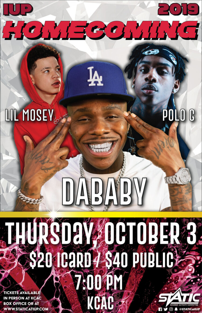 IUP HOMECOMING CONCERT 2019 ft. DABABY, LIL MOSEY, & POLO G
